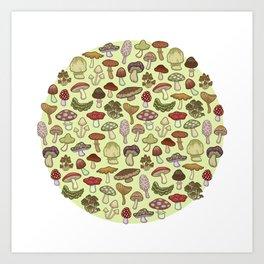 Mushroom Circle Art Print