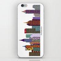 atlanta iPhone & iPod Skins featuring Atlanta city  by bri.buckley