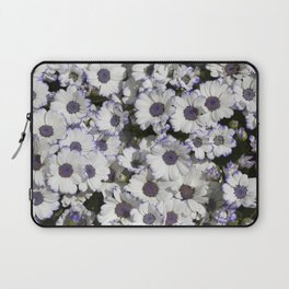 Cineraria White and Purple Laptop Sleeve