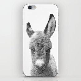 Black and White Baby Donkey iPhone Skin