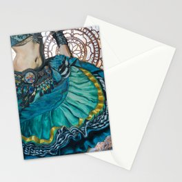 Turquoise Twirling Stationery Cards