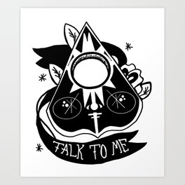 Talk to Me, Baby Art Print