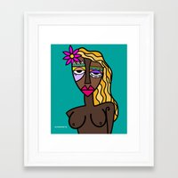 african Framed Art Prints featuring African beauty by Andrea Silvestri