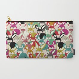 Colored  Easter bunny seamless pattern Carry-All Pouch