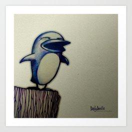 Daily Doodle - Linux Art Print