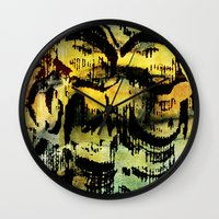 twins Wall Clocks featuring twins by clemm