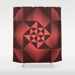 Abstract Triangles - Ruby Shower Curtain