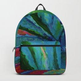 WESTERN DESERT BLUE AGAVE CACTUS in  RED-TEAL Backpack