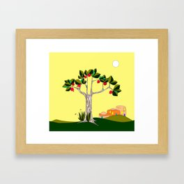 A Pomegranate Tree in Israel in the Day Framed Art Print