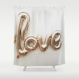 Balloon Love (Color) Shower Curtain