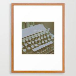 Write down Framed Art Print