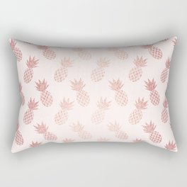 Rose Gold Pineapple Pattern Rectangular Pillow