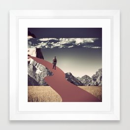 Sur le bout de la langue Framed Art Print