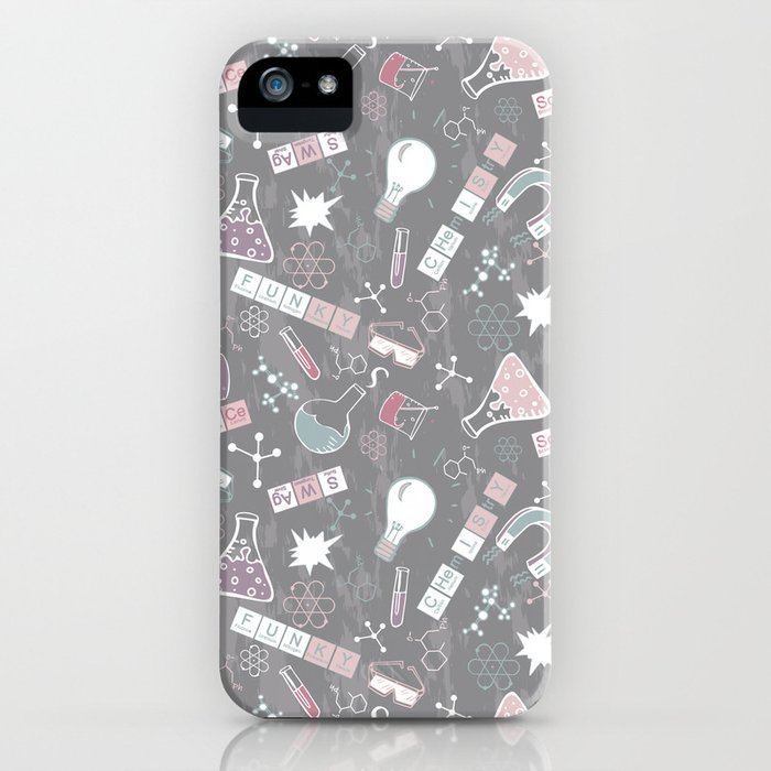 Chemistry on Gray iPhone Case