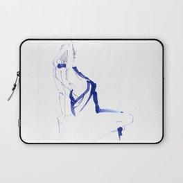 ...In a Blue Dress Laptop Sleeve
