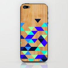 Geometric Blue Polygons iPhone & iPod Skin