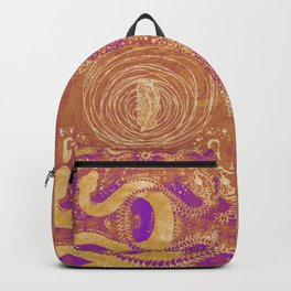 Snake Destiny (Golden Colors) Backpack