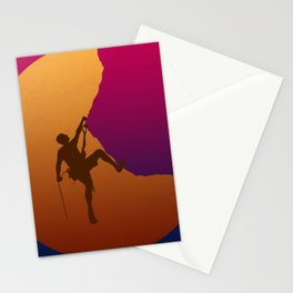 Climbing sunset No2 Stationery Cards