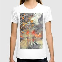 takmaj T-shirts featuring WINTER IN THE CITY by takmaj