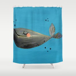Whale Hello There Shower Curtain