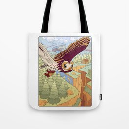 Short-eared Owl with Teddy Bear Tote Bag