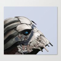 garrus Canvas Prints featuring Garrus Vakarian by TheInkedOctopus