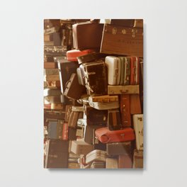 TOWER OF LUGGAGE Metal Print