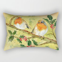 English Robin Rectangular Pillow