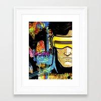 cyclops Framed Art Prints featuring Cyclops by Zoé Rikardo
