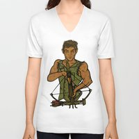 daryl V-neck T-shirts featuring Daryl by Aqua Ink Graphics