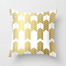 gold arrows Throw Pillow