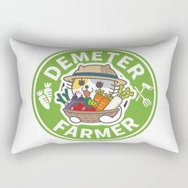 Farmer Cat Rectangular Pillow