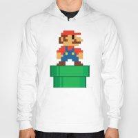 mario bros Hoodies featuring Mario Bros by WaXaVeJu