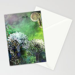 Secret life of (Green) Trees Stationery Cards