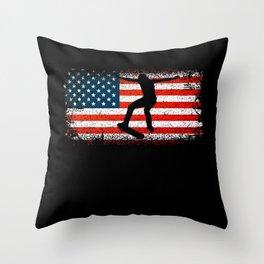 Skateboarding Flag Skateboarding Lover Skater Gift Throw Pillow