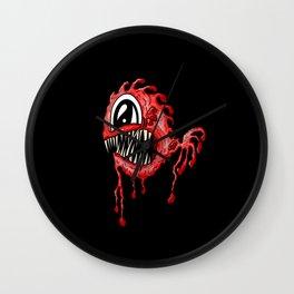 Red Fang Deep Sea Fish Face Wall Clock