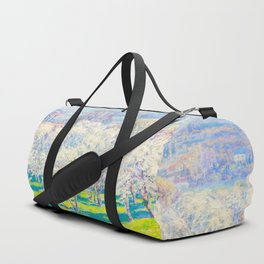 Václav Radimský (1867-1946) Blooming orchard Modern Impressionist Oil Painting Colorful Bright Duffle Bag