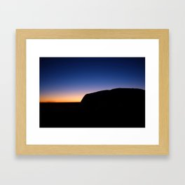 Sunrise over Uluru Framed Art Print