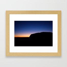 Sunrise over Uluru Framed Art Print