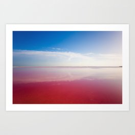 Pink ocean Art Print