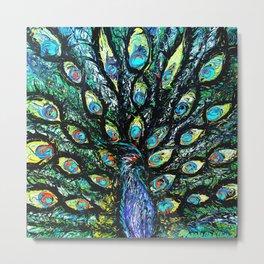 Nola (Peacock Series) Metal Print