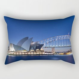 Sydney Opera House By Night Rectangular Pillow