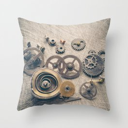 Watch Cogs and Gears Throw Pillow