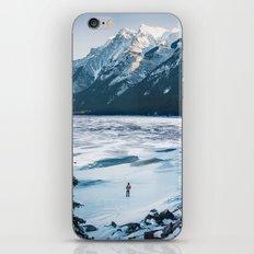 Winter at Lake Minnewanka iPhone & iPod Skin