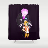 minions Shower Curtains featuring It's You I Hate The Most by Shrineheart