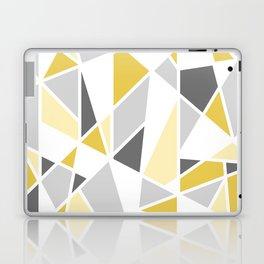 Geometric Pattern in yellow and gray Laptop & iPad Skin