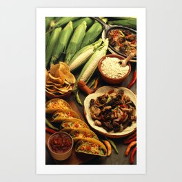 Mexican Food Art Print