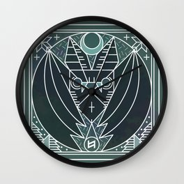 Bat from Transylvania Wall Clock