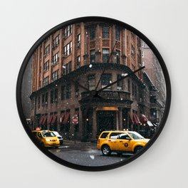 Snow showers in Financial District Wall Clock