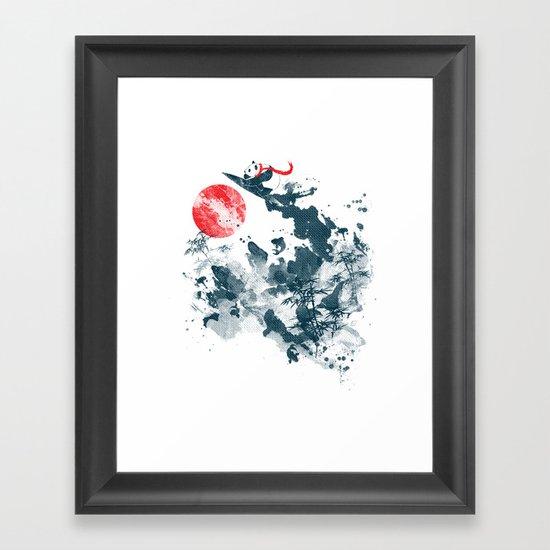 Go!Go! surf time! Framed Art Print